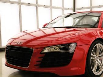 Farbabmusterungskabine bei Audi in Neckarsulm
