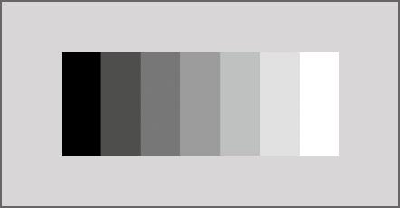 Beispiel des Kontrastes in der Oberflächenkontrolle