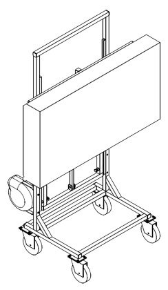 Mobile stand for one surface control light or one color matching light