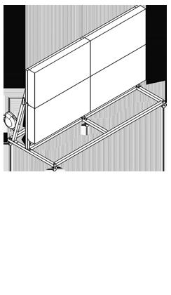 Mobiler Ständer zur Oberflächenkontrolle mit zwei schwenkbaren OKO Leuchten